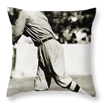 Eddie Plank (1875-1926) Throw Pillow by Granger