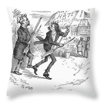 Election Cartoon, 1884 Throw Pillow by Granger