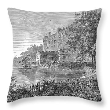 England: Warwick Castle Throw Pillow by Granger