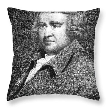 Erasmus Darwin, English Polymath Throw Pillow by Science Source