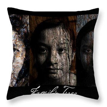 Family Tree Throw Pillow by Christopher Gaston