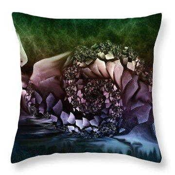 Fantasy Bird Throw Pillow by Julie Grace