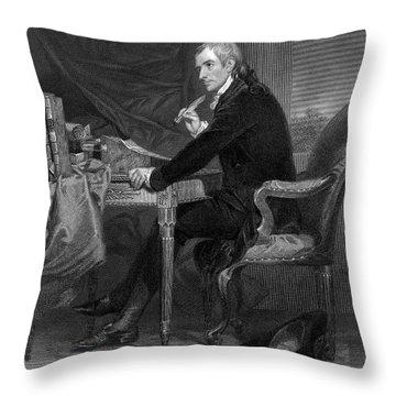 Francis Hopkinson Throw Pillow by Granger