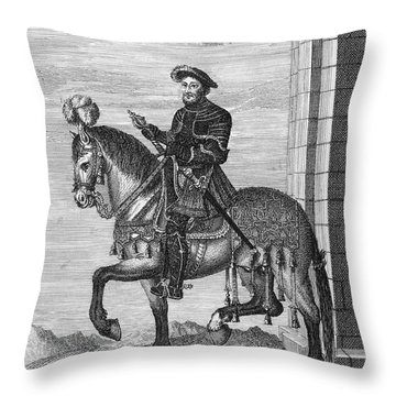 Francis I (1494-1547) Throw Pillow by Granger