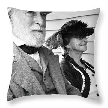 General Lee And Mary Custis Lee Throw Pillow by Thomas R Fletcher