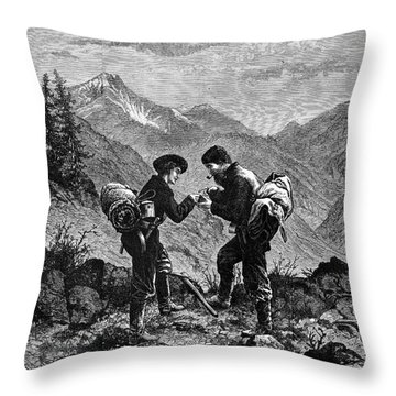 Gold Prospectors, 1876 Throw Pillow by Granger