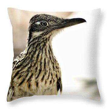 Greater Roadrunner  Throw Pillow by Saija  Lehtonen