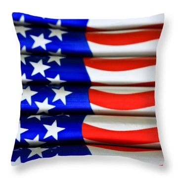 Happy 4th Throw Pillow by Tracy  Hall