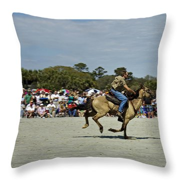 Has A Big Lead Throw Pillow by Phill Doherty