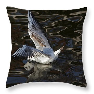 Head Under Water Throw Pillow by Michal Boubin