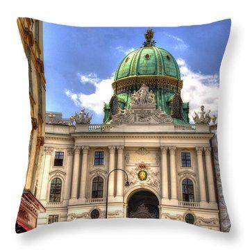 Hofburg Palace - Vienna Throw Pillow by Jon Berghoff