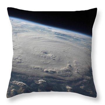 Hurricane Felix Over The Caribbean Sea Throw Pillow by Stocktrek Images