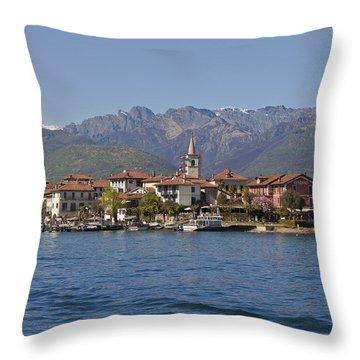 Isola Dei Pescatori Throw Pillow by Joana Kruse