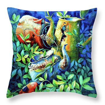 Kettle Cluster Throw Pillow by Hanne Lore Koehler