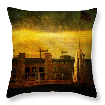 Lambeau Field Throw Pillow by Joel Witmeyer