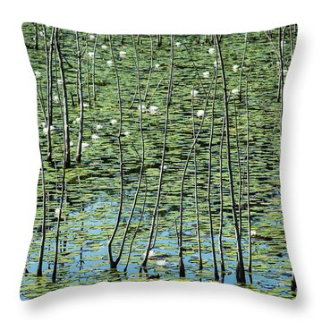 Lilly Pond Throw Pillow by John Greim