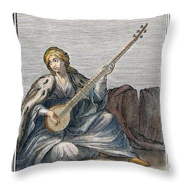 Long Lute, 1723 Throw Pillow by Granger