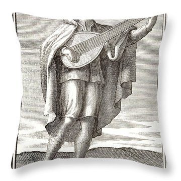 Lute, 1723 Throw Pillow by Granger