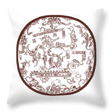 Mayan Cosmos Throw Pillow by Science Source