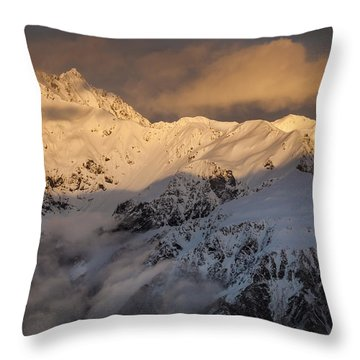 Mount Rolleston At Dawn Arthurs Pass Np Throw Pillow by Colin Monteath