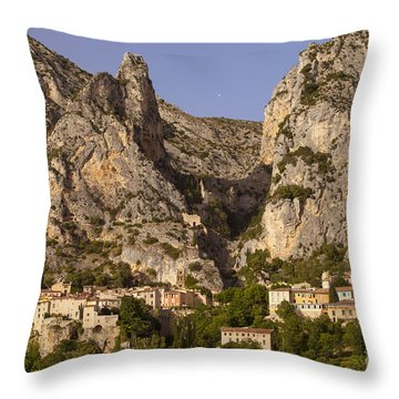 Moustier-sainte-marie Throw Pillow by Brian Jannsen