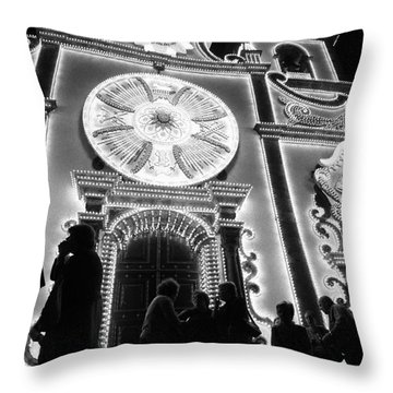 Nighttime Religious Celebrations Throw Pillow by Gaspar Avila