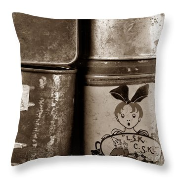 Old Fashioned Iron Boxes. Throw Pillow by Bernard Jaubert