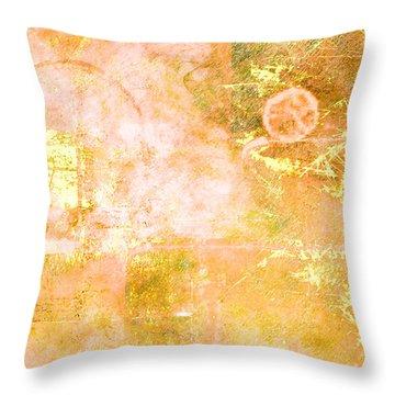 Orange Peel Throw Pillow by Christopher Gaston