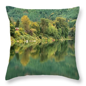 Oregon Green Throw Pillow by Katie Wing Vigil