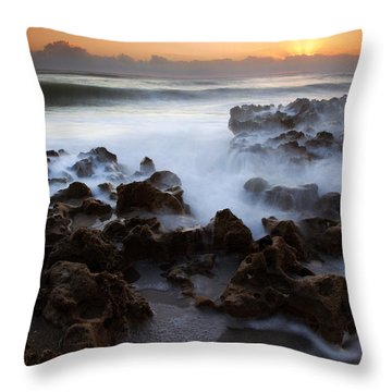 Overwhelmed By The Sea Throw Pillow by Mike  Dawson