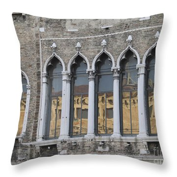 Palace. Venice Throw Pillow by Bernard Jaubert