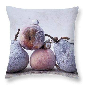 Pears And Apples Throw Pillow by Bernard Jaubert