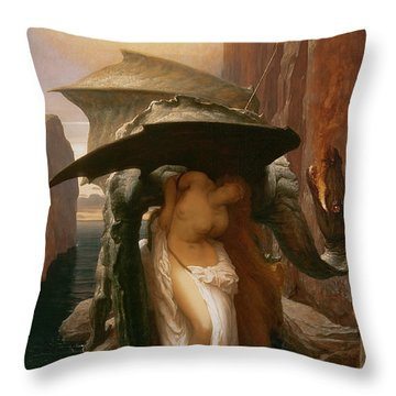 Perseus And Andromeda Throw Pillow by Frederic Leighton