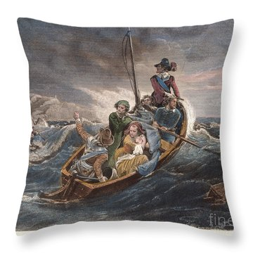 Puritan Fugitives Throw Pillow by Granger