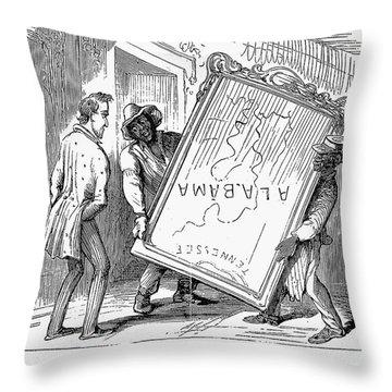 Reconstruction Cartoon Throw Pillow by Granger