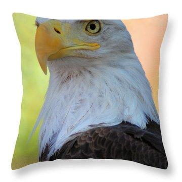 Regal Eagle Throw Pillow by Linda Eshom