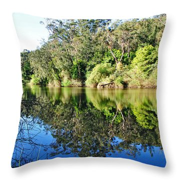 River Reflections Throw Pillow by Kaye Menner
