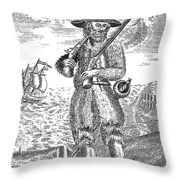 Robinson Crusoe Throw Pillow by Granger