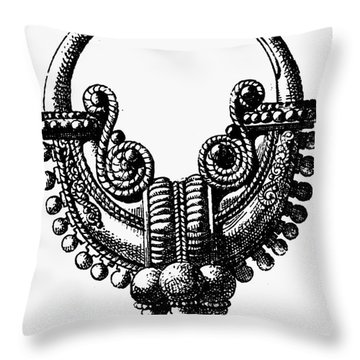 Rome: Gold Earring Throw Pillow by Granger