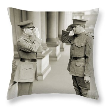 Ruth & Pershing, 1924 Throw Pillow by Granger
