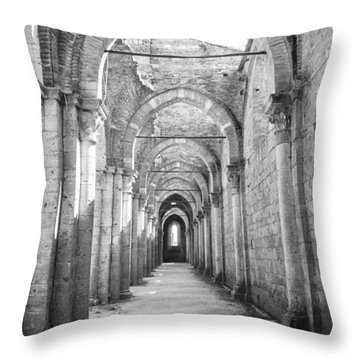 San Galgano Abbey Throw Pillow by Ralf Kaiser