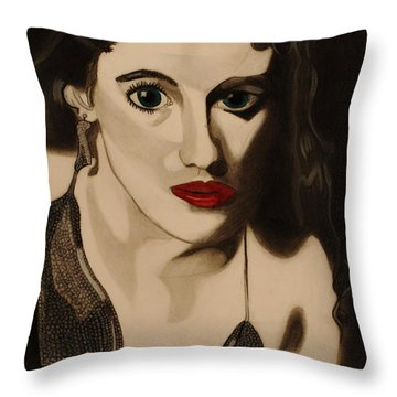 Self Portrait Throw Pillow by Teri Schuster