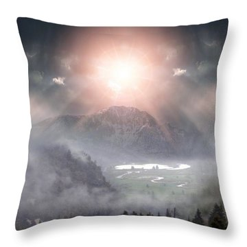 Silent Night Throw Pillow by Bill Stephens