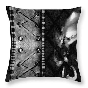 Solo Skull Throw Pillow by Roseanne Jones