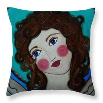 St Michael Archangel Throw Pillow by Pristine Cartera Turkus