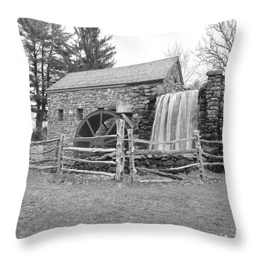Sudbury Grist Mill  Throw Pillow by Catherine Reusch  Daley