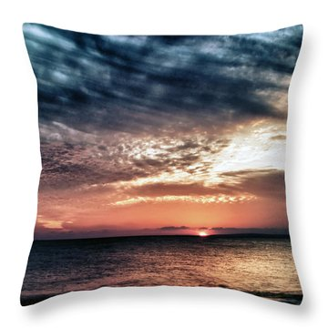 Sunset Throw Pillow by Stelios Kleanthous