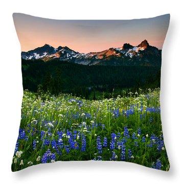 Tatoosh Dawn Throw Pillow by Mike  Dawson