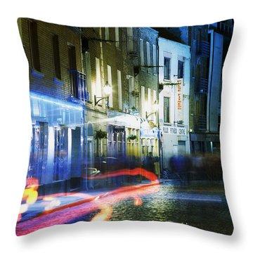 Temple Bar, Dublin, Co Dublin, Ireland Throw Pillow by The Irish Image Collection