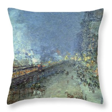 The El Throw Pillow by Childe Hassam